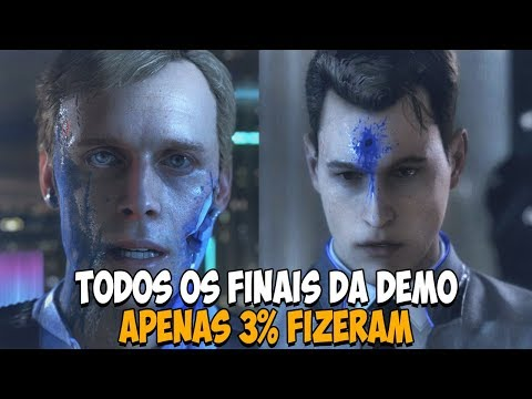 DETROIT: BECOME HUMAN - Todos os Finais da Demo - Dublado PT-BR  PS4 pro