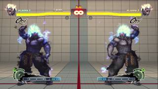 Super Street Fighter 4 Arcade Edition Dlc Oni Akuma Gameplay HD 720p