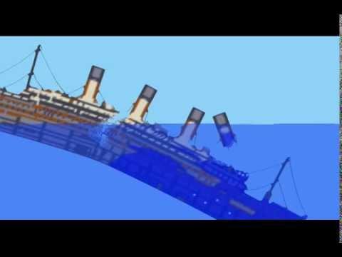 R.M.S. Titanic Model Sinking