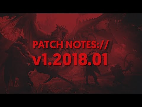 Patch Notes:// January 2018 - Monthly All-in-One Gaming News Round-up