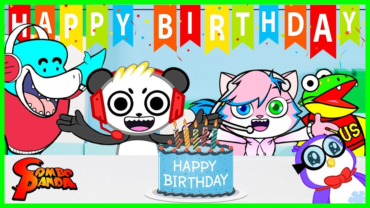 Combo Panda Happy Birthday Party Surprise Toy Hunt
