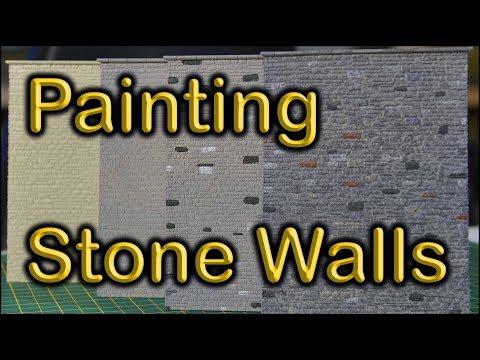 47. Painting Model Railway Stone Walls at Chadwick Model railway