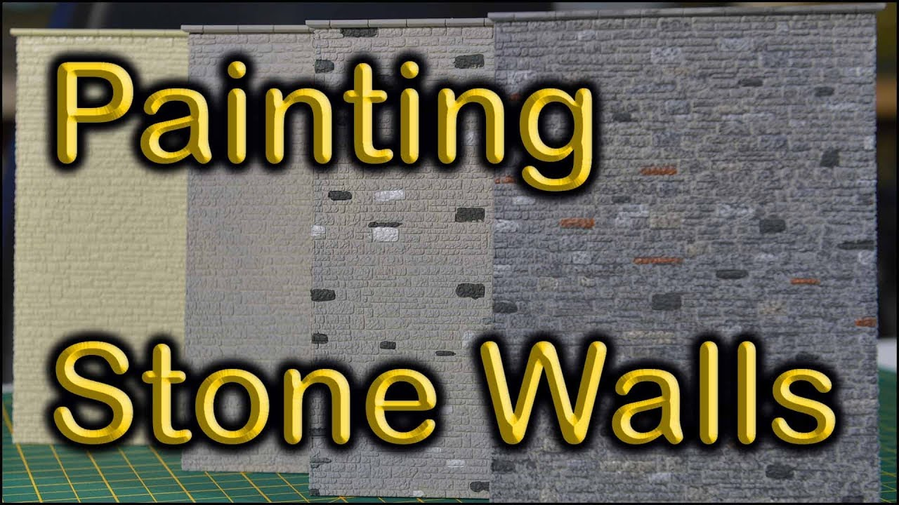 Painting Model Railway Stone Walls