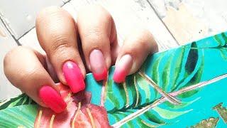 NEONOWE OMBRE - Hybrydowa Inspiracja - KaroLove Nails   Blogodynka