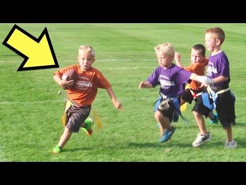 🏈HILARIOUS Little Kids FIRST Flag FOOTBALL Game! thumbnail