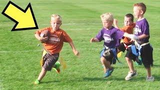 🏈HILARIOUS Little Kids FIRST Flag FOOTBALL Game!