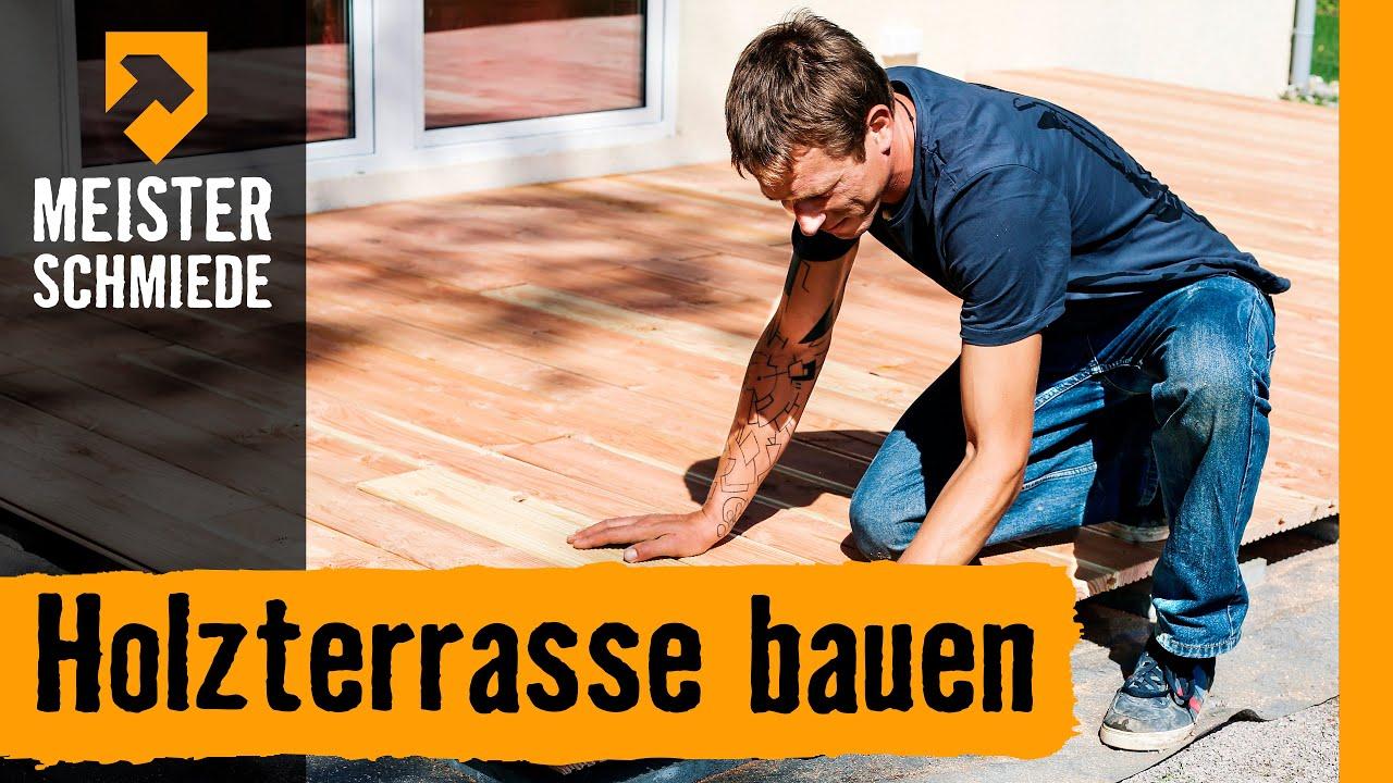 Holzterrasse Bauen Hornbach Meisterschmiede Youtube