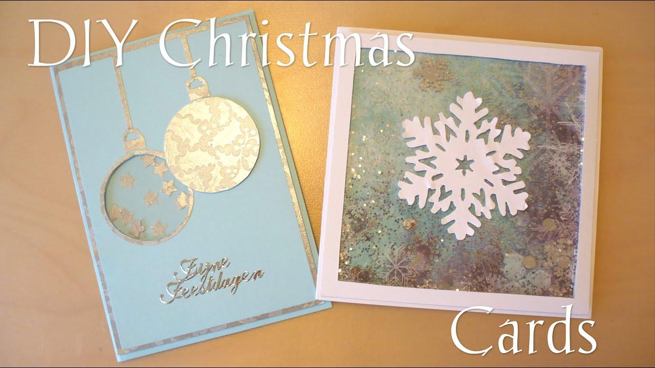 DIY Easy Christmas Cards YouTube