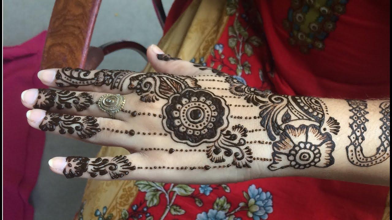 Mehndi Bridal Back Side : Mehndi design for back side full hand arabic bridal
