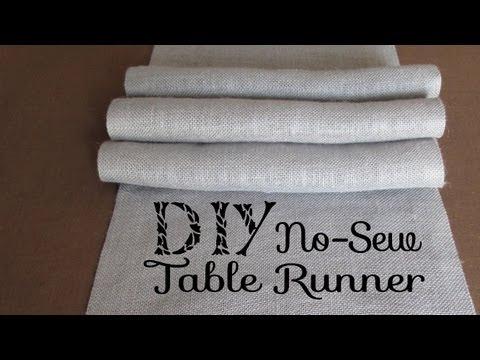 DIY No Sew Burlap Table Runners DIY Wedding / Home Decor