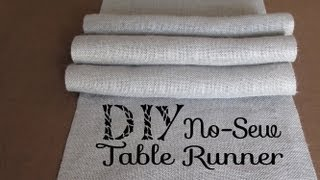 Diy No Sew Burlap Table Runners Diy Wedding / Home Decor