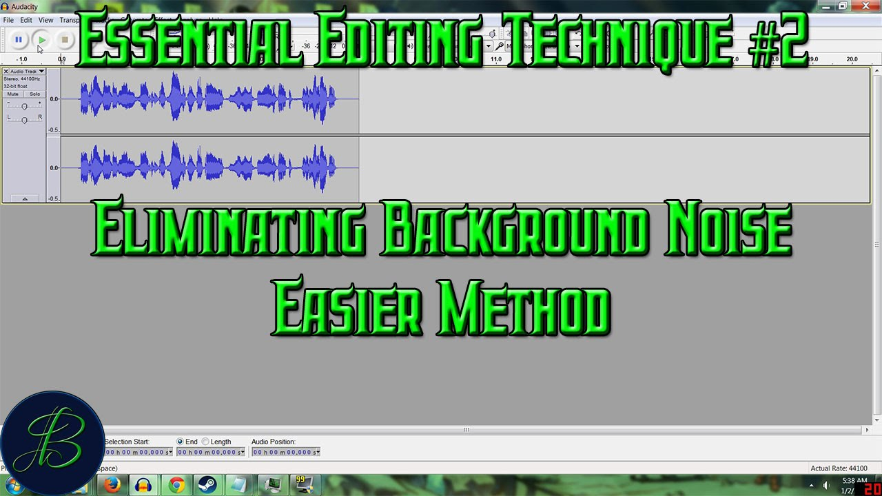 Essential Editing Tip #2 Removing Background Noise With Audacity's Noise  Gate Plugin