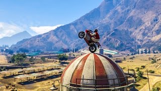 EPIC MOTORBIKE STUNTS! - (GTA 5 Stunts & Fails)