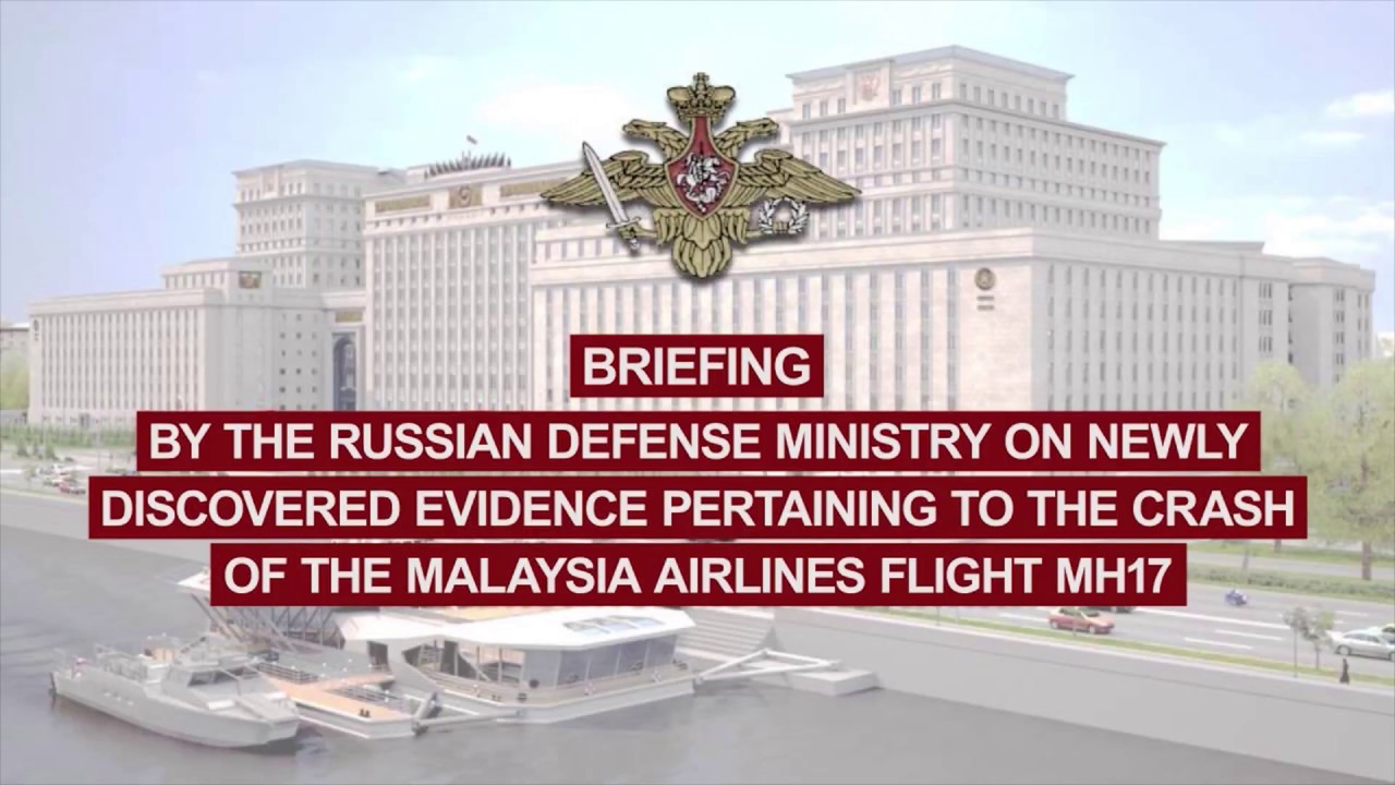 Briefing on newly discovered evidence pertaining to the crash of the MH17 flight