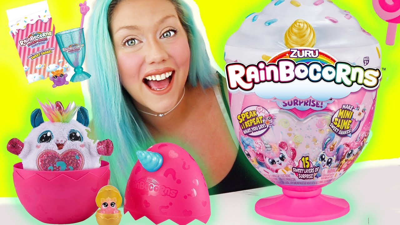 OPENING Rainbocorns Sweet Shake Surprise Eggs!! Unboxing Toy Review!