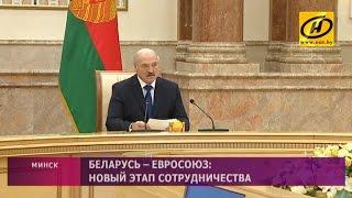 Встреча Президента Беларуси с делегацией Комитета по политике и безопасности Совета ЕС