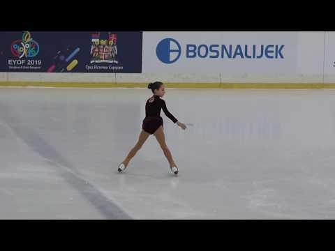 """Mia Milinković, """"Sarajevo Open 2018"""" - Advanced Novices Girls, slobodno klizanje, 02.03.2018."""