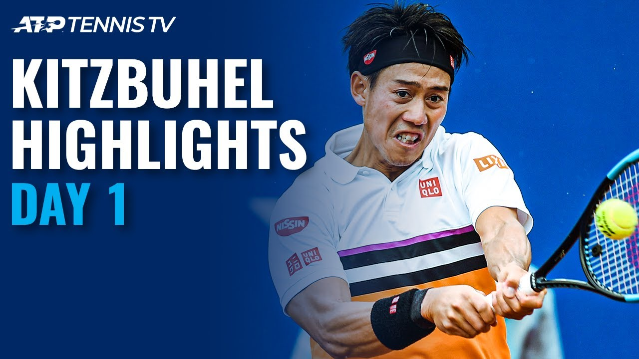 Nishikori Makes Return; Pella, Kecmanovic Advance | Kitzbuhel 2020 Highlights Day 1