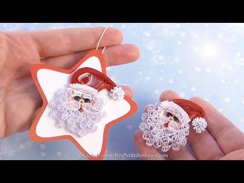 Père Noël en quilling  - Tutoriel - Quilled Father Christmas