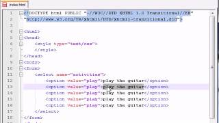 XHTML and CSS Tutorial   42   Drop Down Lists   YouTube 360p