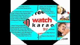 Dil humra hoa kse ka ( Albela ) Free karaoke with lyrics by Hawwa -