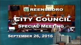 Special City Council Meeting 9/26/16 - Part 2