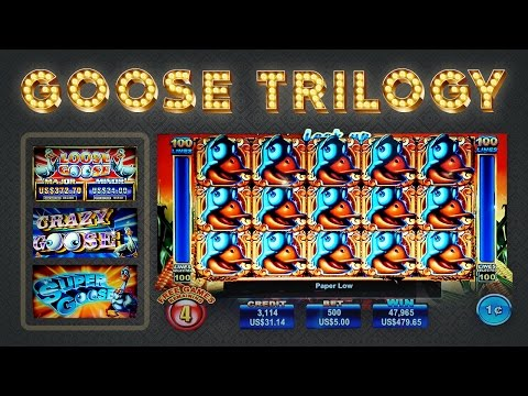 Goose Slot Trilogy - Crazy, Loose, and Super - BIG WIN Longplay! - 동영상