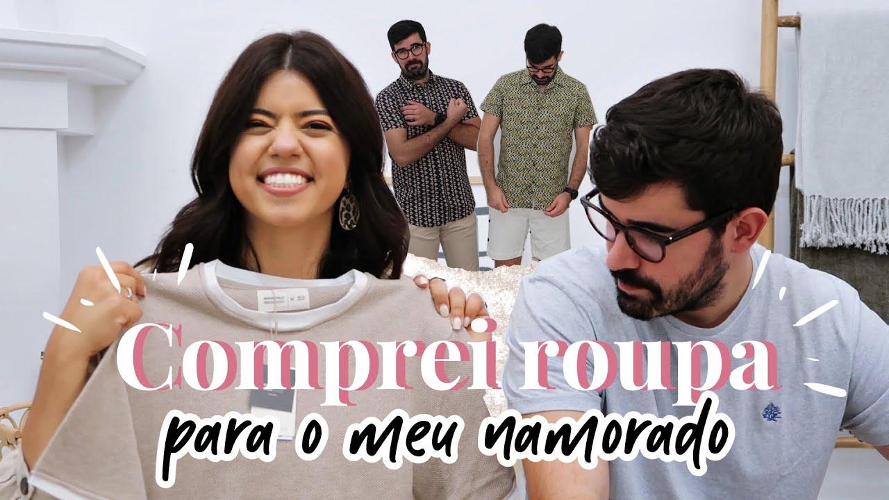 COMPREI ROUPA NOS SALDOS PARA O MEU NAMORADO - TRY ON | Andreia Simão