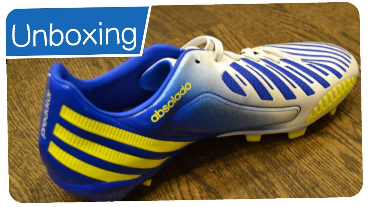 Moderador bostezando Hobart  Adidas Predator LZ TRX FG White/Blue/Yellow - XAVI Boots - Unboxing -  YouTube