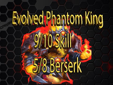 Castle Clash Evolved Phantom King 9/10 Skill 5/8 Beserk In Action!
