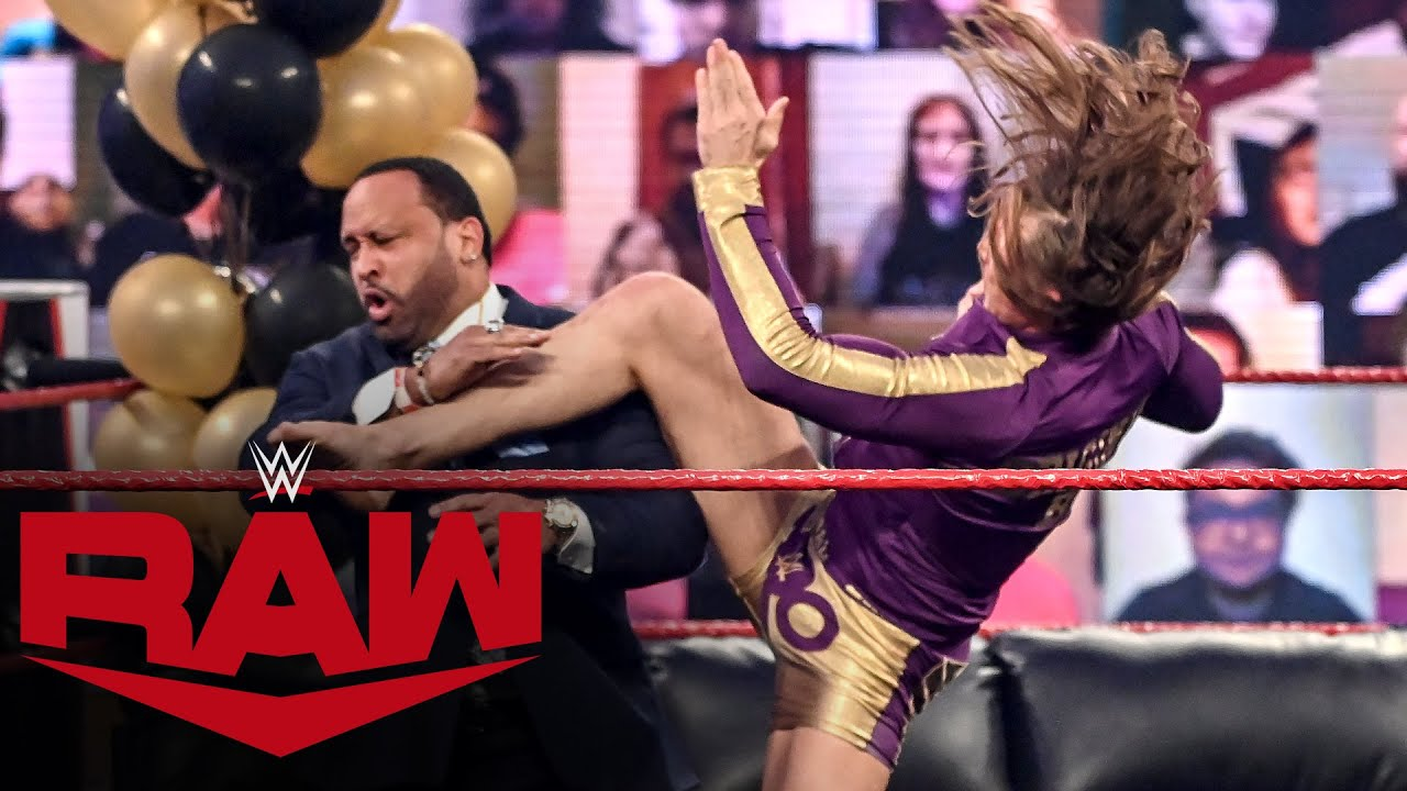 Download R-Truth and Riddle crash The Hurt Business' VIP Lounge: Raw, Jan. 25, 2021