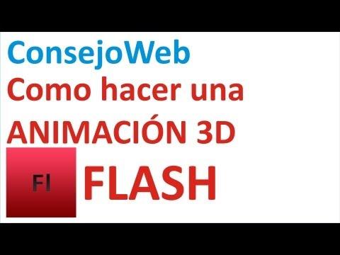 Como hacer una animacion basica 3D en flash cs4