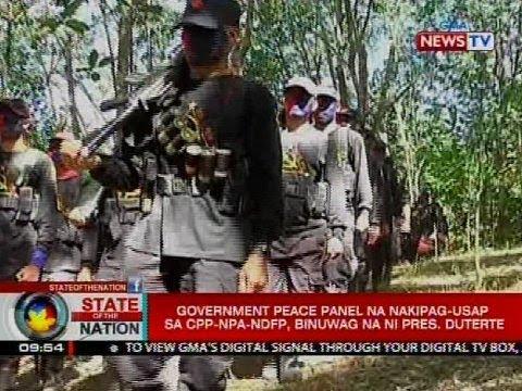 SONA: Government peace panel na nakipag-usap sa CPP-NPA-NDFP, binuwag na ni Pres. Duterte
