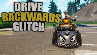 *NEW* How To Drive Backwards Using This Glitch In Fortnite | Drive Backwards Glitch PS4/XBOX