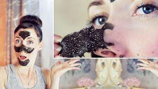 dIY Черная МАСКА - Пленка от Черных Точек / BLOOPERS ASMR / Black Head Remover Peel off Mask