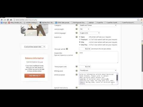 Figuring Out First Article Content and Approving iWriter