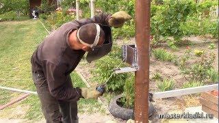 Как сделать ворота и калитку из профнастила своими руками: чертежи (фото и видео)