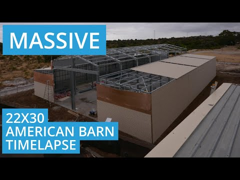 Massive American Barn Shed Time Lapse   Sheds Perth