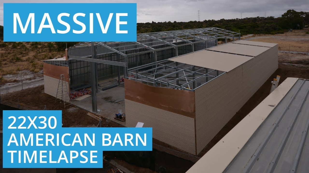 Massive American Barn Shed Time Lapse