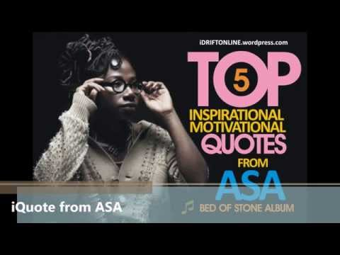 """5 INSPIRATIONAL /MOTIVATIONAL QUOTE FROM Aṣa- """"BED OF STONE"""" ALBUM"""