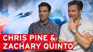 """Idris Elba hit me!"" - Chris Pine & Zachary Quinto talk Star Trek: Beyond"