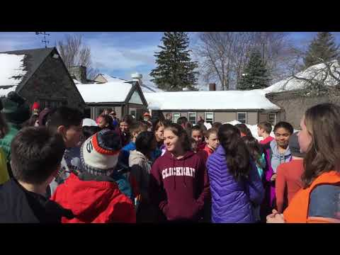 Belmont Day School Student Walkout on March 15