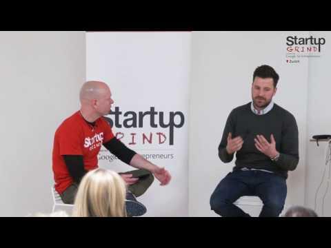 Max Wittrock (MyMuesli) at Startup Grind Zurich, w/ David Butler