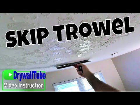 How To Skip Trowel Texture A Skim Coated Ceiling Tutorial- No Sanding!