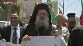 احتجاجات على اقتلاع الزيتون في بيت جالا