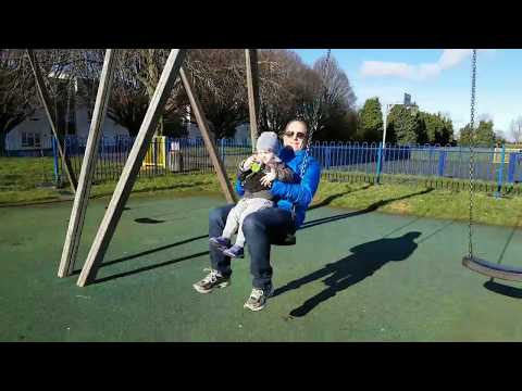 Outdoor Playground In Cutteslowe Park in Oxford, England Slides Sandpit Swings for Kids