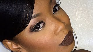 Fall Vampy Vixen Makeup : Chocolate Brown Lips Thumbnail