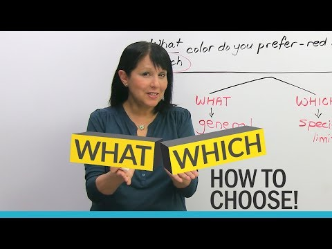 """WHAT"" or ""WHICH""? Learn how to choose!"