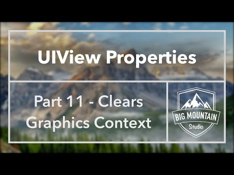 UIView Properties Part 11 - Clears Graphics Context (iOS, Xcode 8)