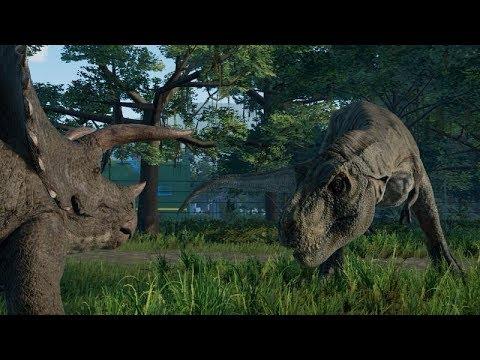 Т-рекс VS Спинозавр VS Гигантозавр/ БИТВА ДИНОЗАВРОВ/Jurassic World Evolution